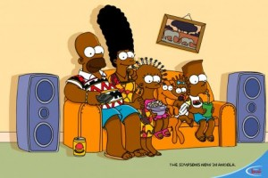Simpsons-Werbung in Afrika