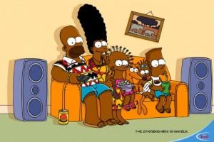 Simpsons-Werbung in Afrika